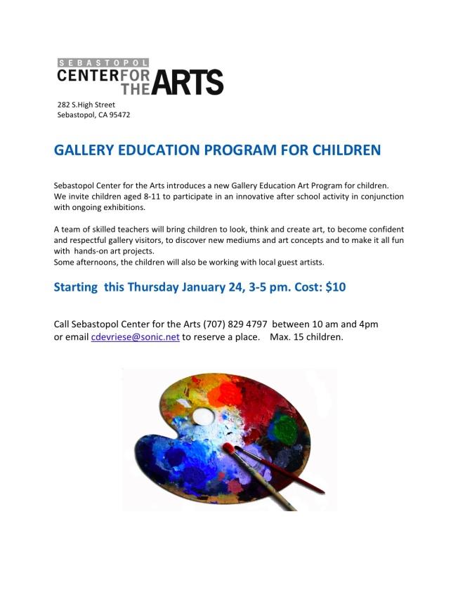 leaflet gallery program for children