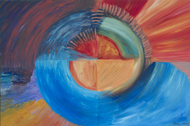 Four Sacred Directions 2002 by Drea Life is an ever changing thing, be it seasons, direction, or age. Embracing these changes is the most important thing we can do. http://dreajensengallery.artistwebsites.com/featured/four-sacred-directions-2002-drea-jensen.html