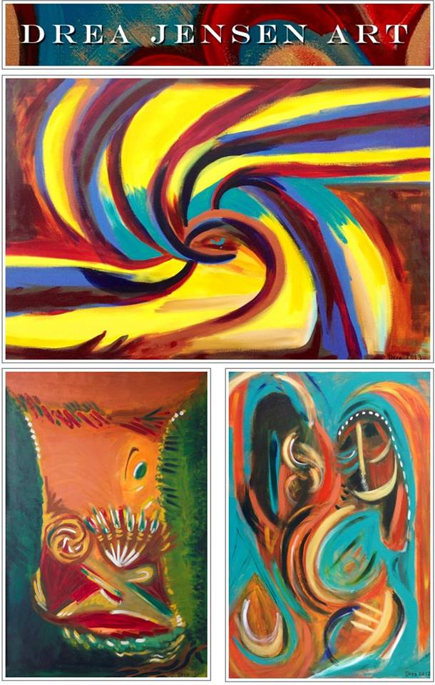 Drea Jensen Art:   Come view these paintings at East West Cafe Sebastopol.